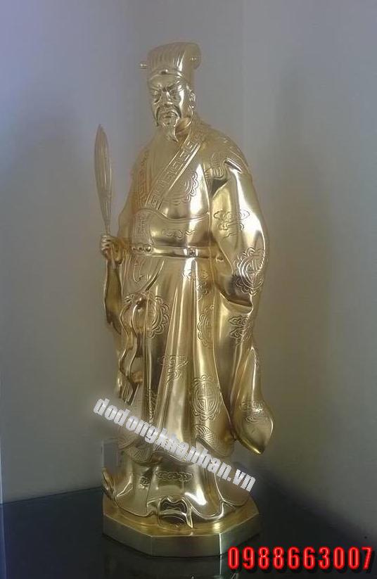 Tượng Khổng Minh bằng đồng vàng