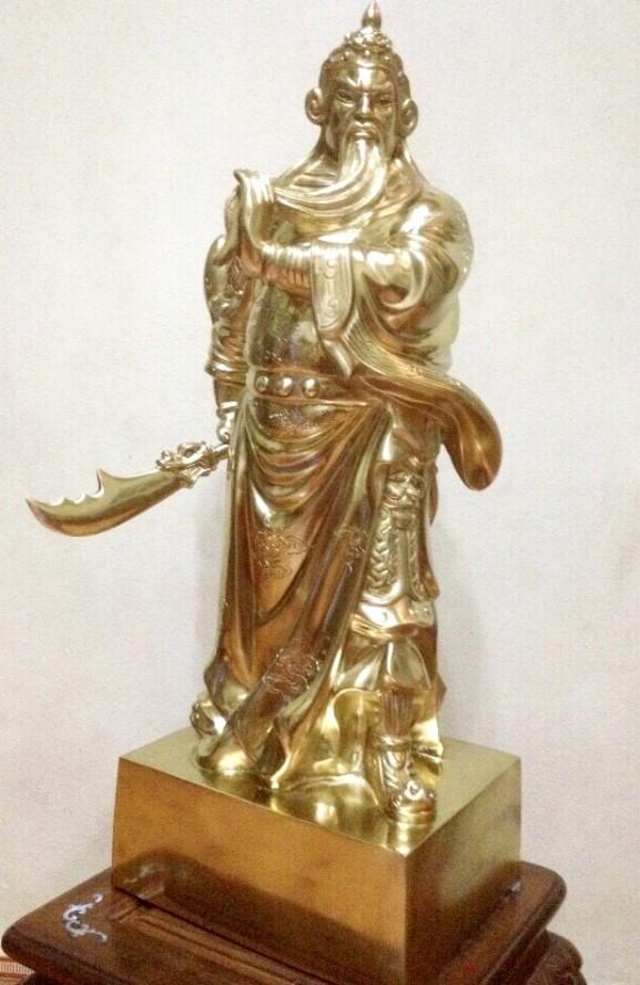 Tượng Quan Công bằng đồng cát tút cao 70cm